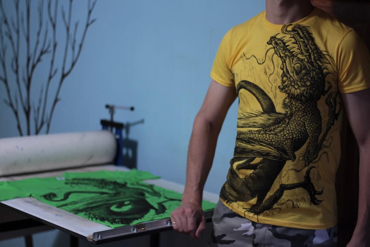 ZMajce Miha Erič Art Linocut Handmade Handprinted