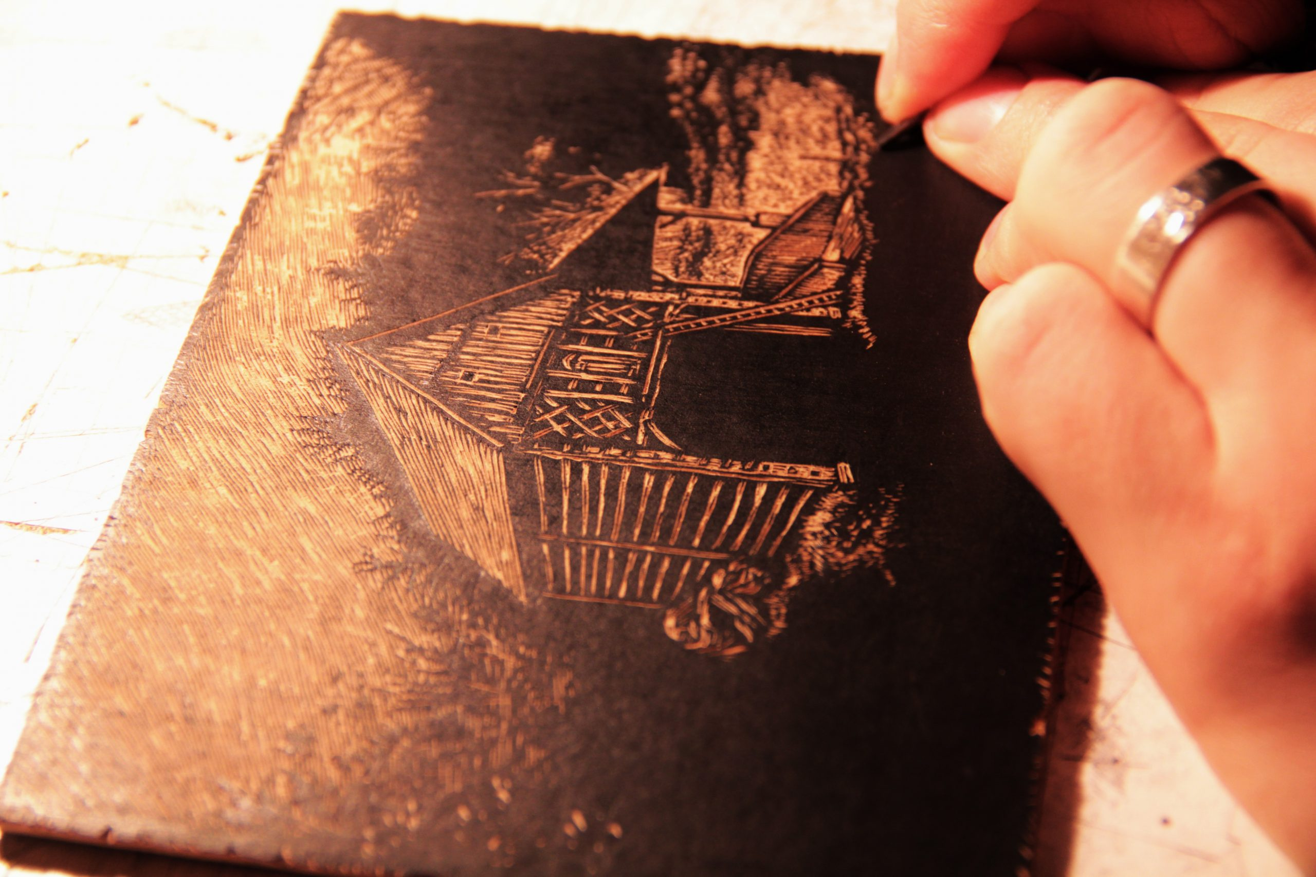 miha erič lesorez woodcut art reliefprint